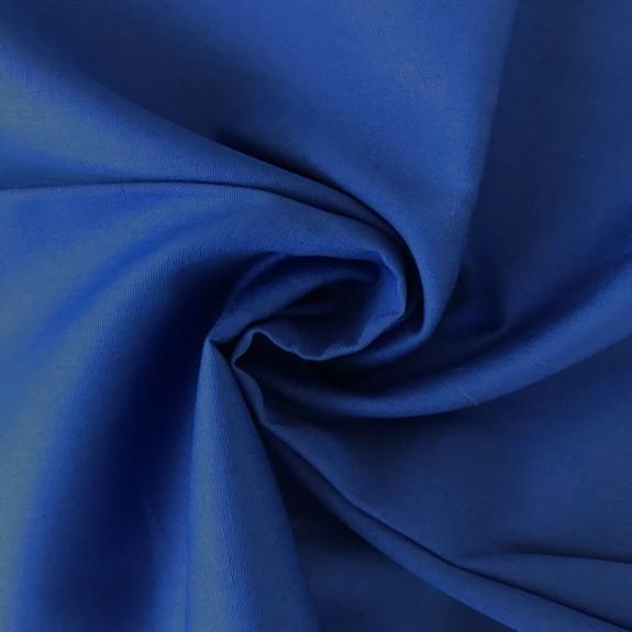 Uni-Baumwollstoff royalblau